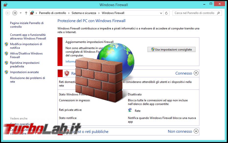 guida windows 10: come configurare windows firewall per permettere l