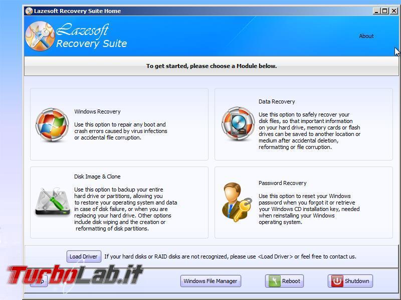 lazesoft load drivers