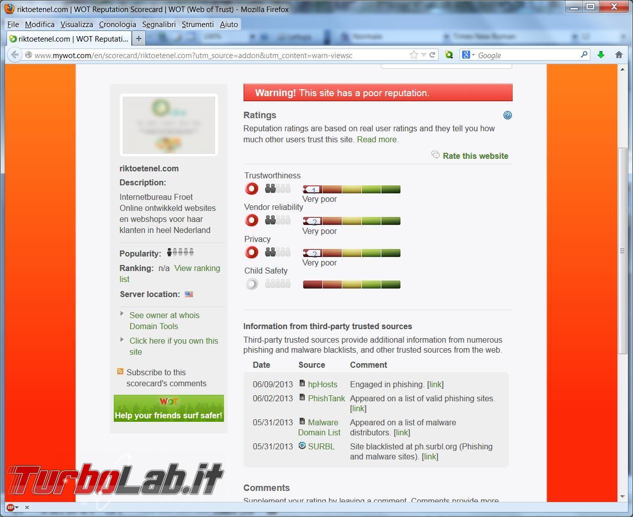 Dating sicurezza del sito Web