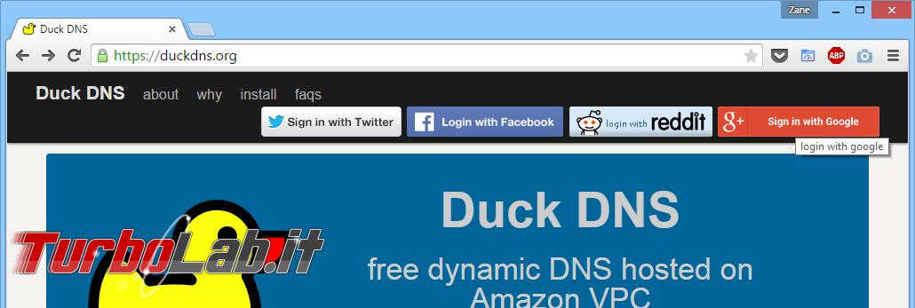 Guida a Dynamic DNS (DDNS) con Duck DNS - Un indirizzo fisso