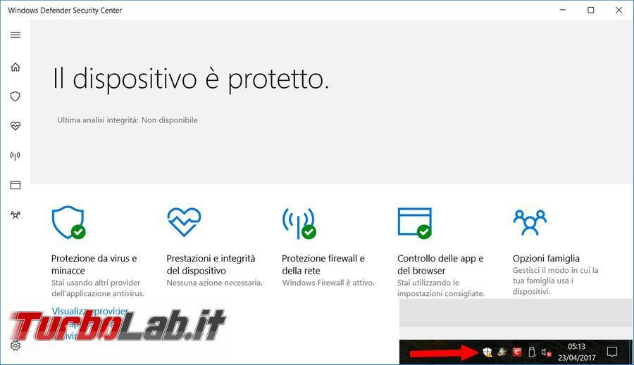 come disattivare windows defender antivirus windows 10