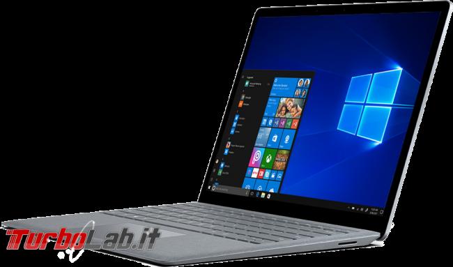 10+ funzioni inutili puoi rimuovere Windows 10 - surface laptop 2017