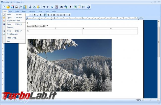 AbleWord permette modificare file PDF