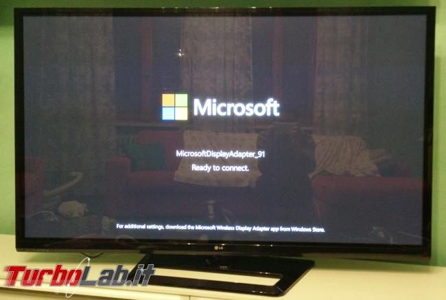Adattatore Miracast TV: prova recensione Microsoft Wireless Display Adapter - IMG_20141213_182700