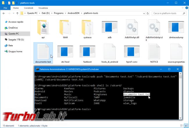 ADB pull push: come copiare file Android PC, quando smartphone non si avvia più
