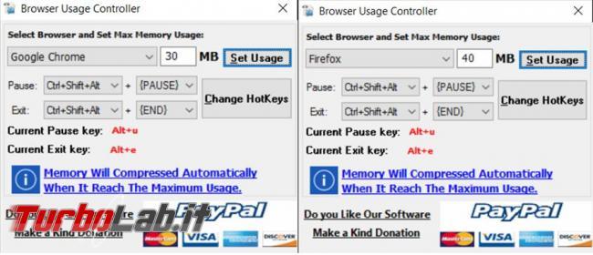All Browsers Memory Zip cerca tenere sotto controllo, abbassare, l'utilizzo memoria RAM browser