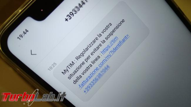 Allarme truffa SMS: MyTIM, Regolarizzare situazione - IMG_20190221_194408