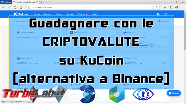 Alternativa Binance - Video guida KuCoin comprare criptovalute (RaiBlocks, Dent, KuCoin Shares)