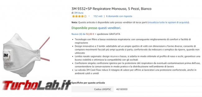 Amazon Coronavirus: 20 euro mascherina - FrShot_1582464153