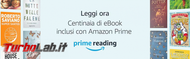 Amazon Prime Reading regala libri ( c'è Grande Guida Windows 10)