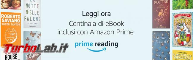 Amazon Prime Reading regala libri ( c'è Grande Guida Windows 10)