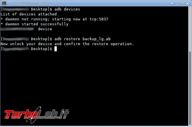 Android: come creare ripristinare backup ADB