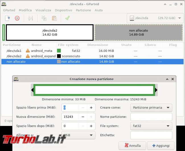 Android: come sostituire scheda SD formattata come memoria interna