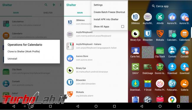 Android, confina app spione profilo separato: guida Shelter [no root]