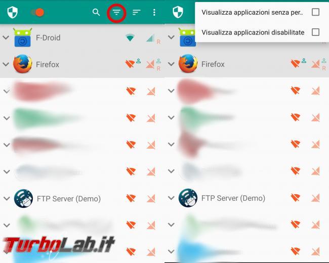 Android: risparmia batteria traffico dati, aumenta privacy blocca pubblicità sola app ( senza root!). Guida Netguard