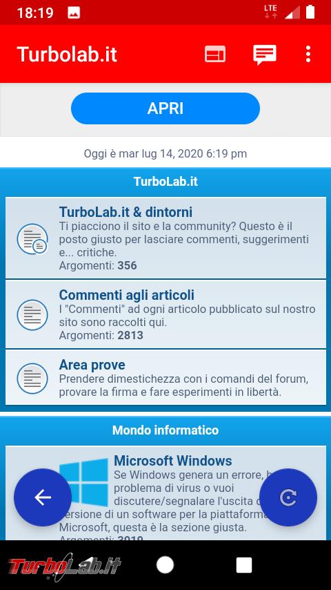 App Android TurboLab.it - Screenshot_20200714-181924