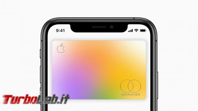 Apple Card: ora disponibile tutti utenti USA