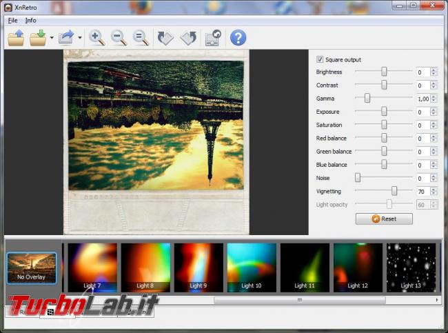 Applicare effetti particolari vintage foto
