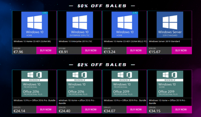 Approfitta migliori offerte Sales Storm 11.11 GoDeal24: Windows 10 soli € 7,33 - FrShot_1604482883_