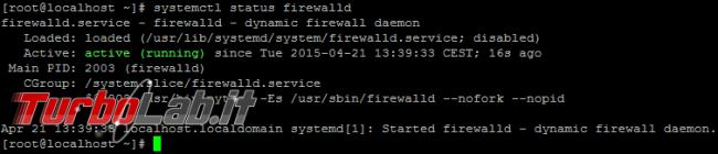 Aprire porte firewall Linux CentOS - guida rapida firewalld - linux centos firewalld status active