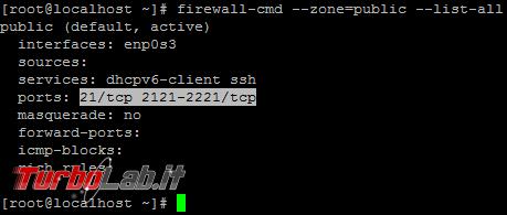 Aprire porte firewall Linux CentOS - guida rapida firewalld - linux firewalld list