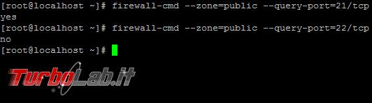 Aprire porte firewall Linux CentOS - guida rapida firewalld - linux firewalld query-port