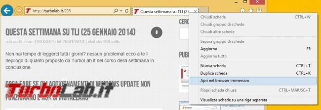 "Aprire sempre Internet Explorer ""touch"" oppure ""desktop"" Windows 8.1"