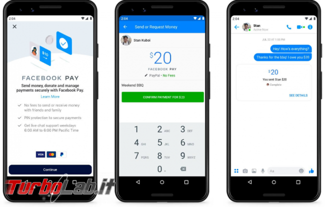 Arriva Facebook Pay, servizio pagamento social network - FrShot_1573637522