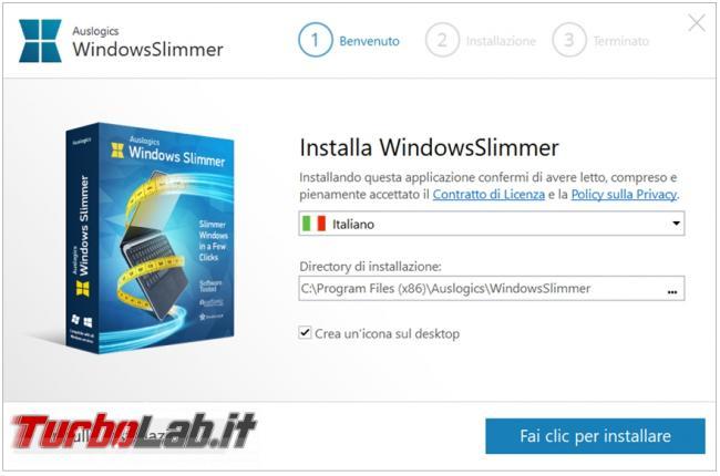 Auslogics Windows Slimmer programma pulizia avanzata sistema operativo