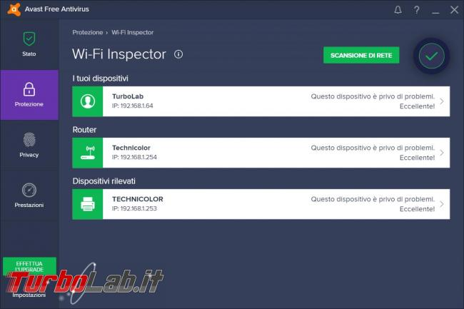 Avast free Antivirus 2017 prova TurboLab.it