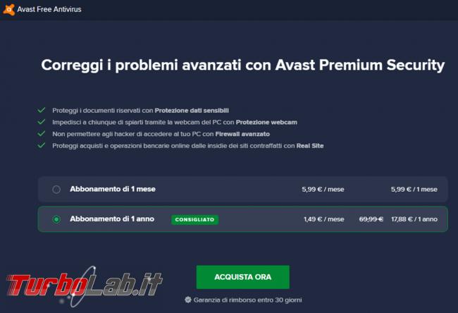 Avast free prova recensione dell'antivirus gratuito