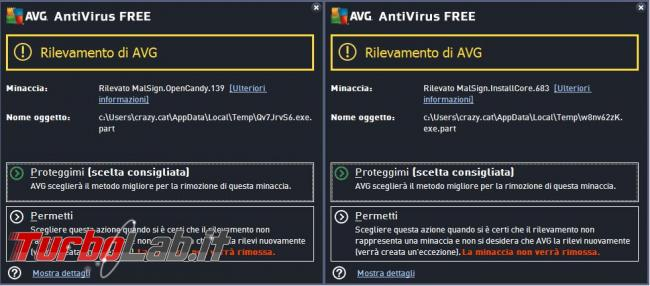 Avg antivirus free 2015 messo prova TurboLab.it