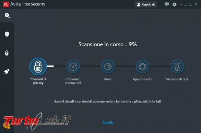 Avira Free Security 2020 prova recensione antivirus gratuito
