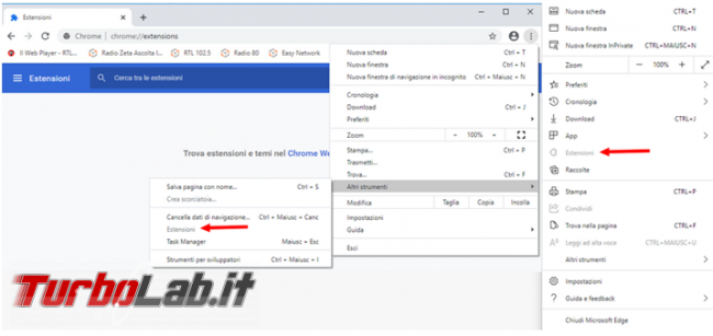 Avviare Chrome, Firefox, Opera, Microsoft Edge Internet Explorer senza componenti aggiuntivi