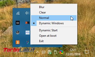 """Barra applicazioni trasparente Windows 10: come ottenere effetto """"Aero Glass"""" (""""vetro"""")?"""