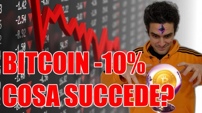 Bitcoin -10%: cosa succede? comprare, vendere hodl? (video) - bitcoin -10% cosa succede spotlight