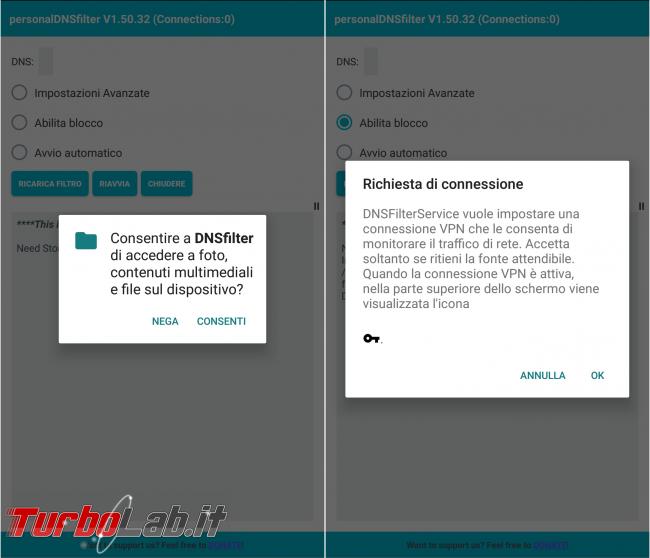 Blocca pubblicità Android senza root 3: guida completa DNSfilter ( block)