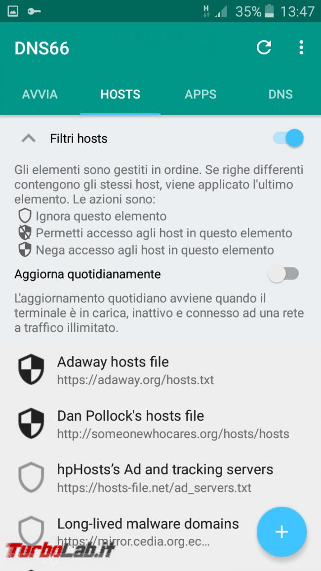 Blocca pubblicità Android senza root: guida completa DNS66 ( block)