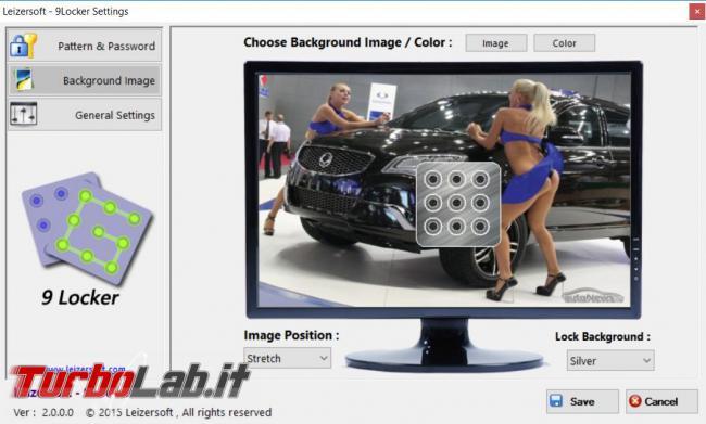 Bloccare schermata Windows Lock Pattern come smartphone