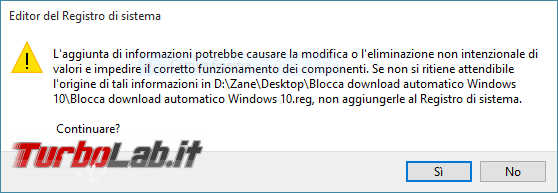 "Bloccare Windows 10: guida impedire aggiornamento automatico PC Windows 7 Windows 8.1 tramite ""DisableOSUpgrade"" ""Gwx Control Panel"" - conferma registro reg"