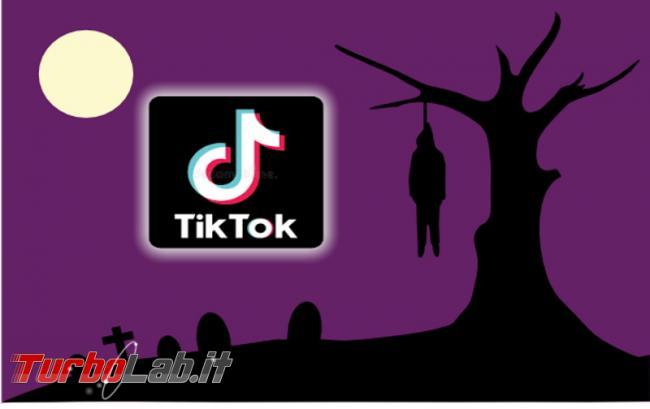 Blocco TikTok dopo morte bambina seguito Hanging Challenge