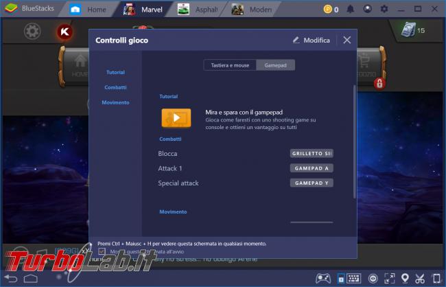 BlueStacks: guida configurare tasti gioco (comandi gamepad oppure mouse tastiera) - zShot_Insider_1552841600