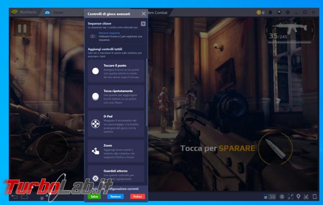 BlueStacks: guida configurare tasti gioco (comandi gamepad oppure mouse tastiera) - zShot_Insider_1552843949