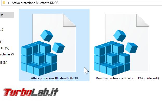 Bluetooth KNOB Windows: come attivare protezione proteggere PC