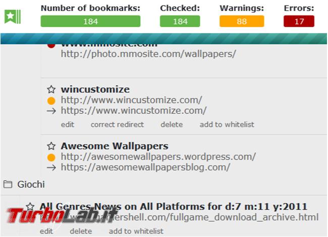 Bookmarks organizer mette ordine preferiti Firefox rimuovendo duplicati correggendo quelli non validi