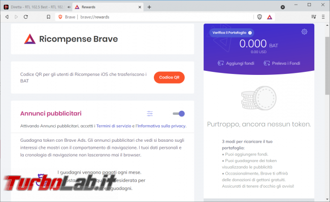Brave browser navighi sicuro protetto