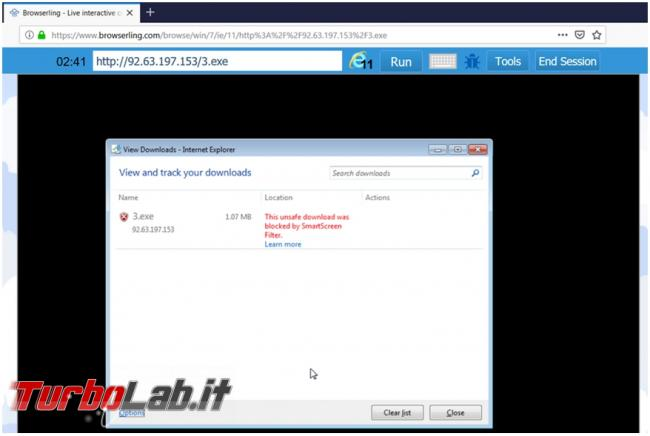Browserling è browser virtuale online provare link sospetti