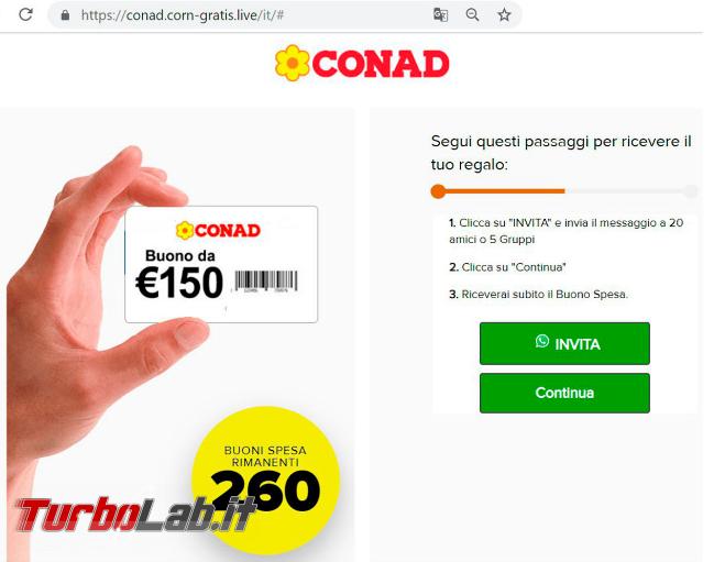 """Buoni Conad, Alitalia Carrefour: truffa """"Lotsy"""" gira social - Annotazione 2019-08-05 091134"""