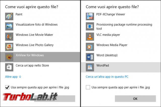 Cambiare app browser predefinito Windows 10