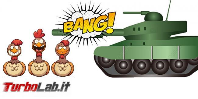 Carro armato colpisce allevamento galline: è andata davvero così? - per articolo galline